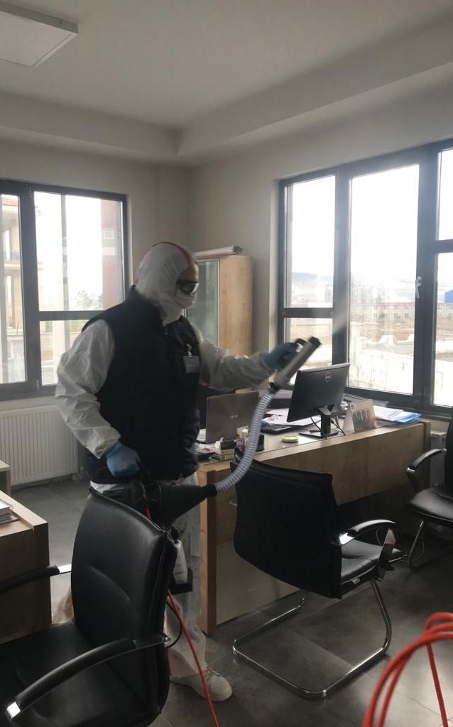 İşletmemizde Korona Virüs Kapsamında Dezenfeksiyon Çalışmalarımız.